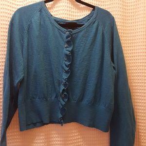 Lane Bryant blue short cardigan. Size 22/24
